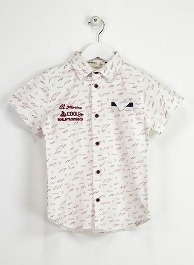 Morhipo Kids Baskılı Gömlek Beyaz